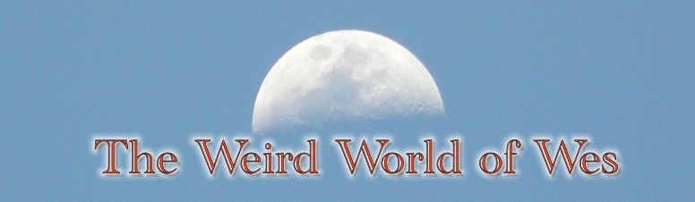 Weird World of Wes Moon logo. Copyright © Wes Pinter